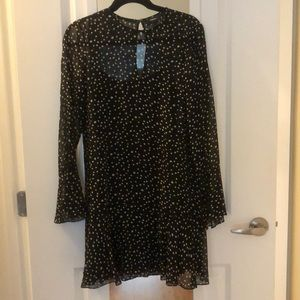Theory Black dress with white spot detail